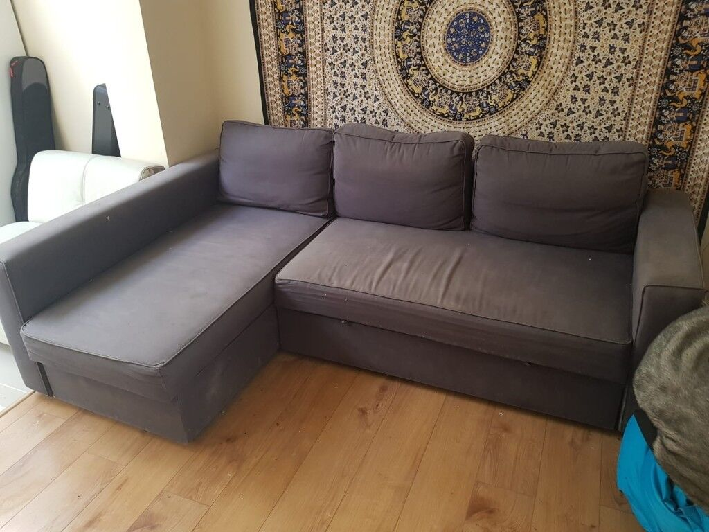 For Sale Large Grey Ikea Corner Sofa Sofa Bed In