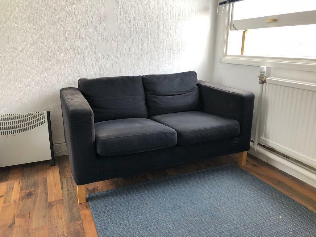 Ikea Sofa Z Szezlongiem Black Ikea Sofa In Butetown Cardiff Gumtree