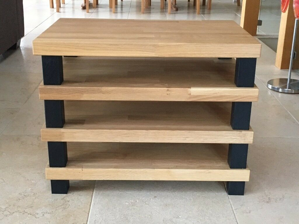 Hifi Rack Oak Solid Oak 39podium 39 Hifi Rack In Taunton Somerset Gumtree