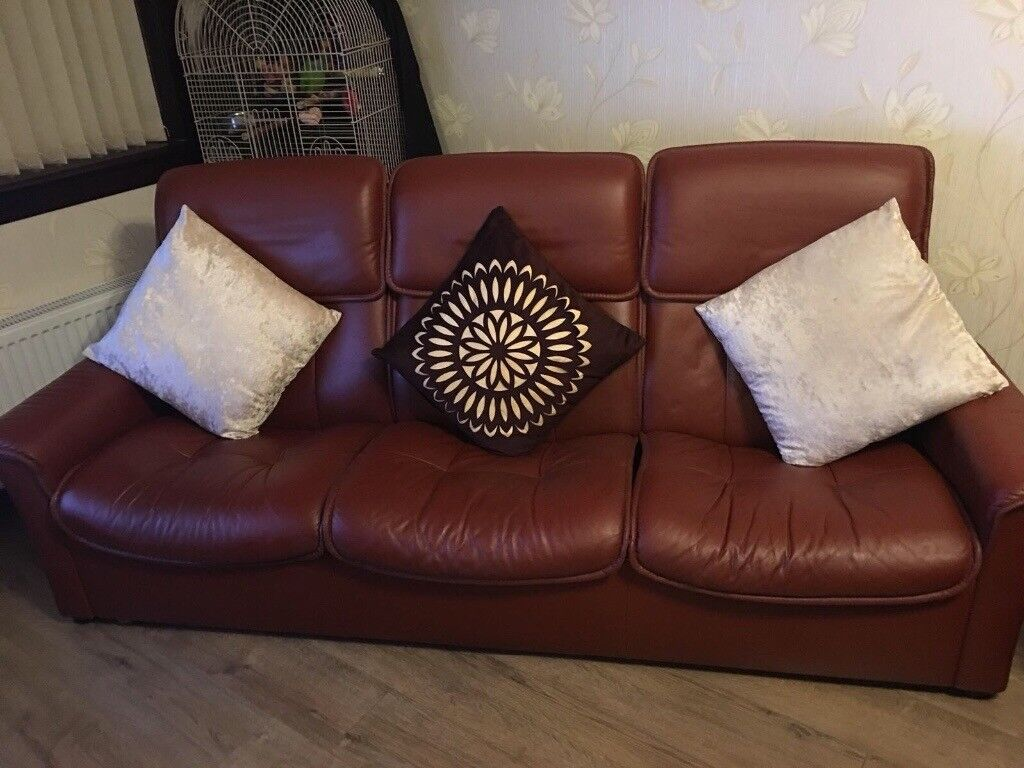 Leather Recliner Gumtree Glasgow Sofa Leather Semi Recliner Sofa In Kennoway Fife Gumtree