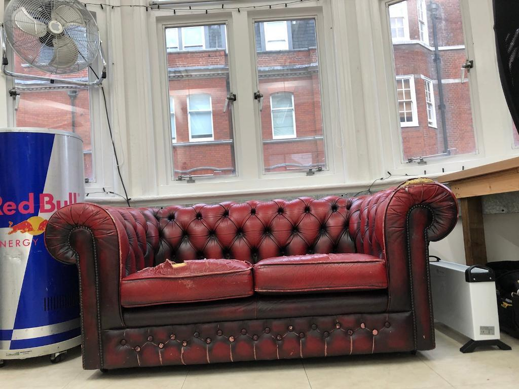 2 Seater Chesterfield Sofa Gumtree 2 Seater Chesterfield Sofa Red Leather Vintage In