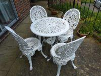 White Iron Garden Furniture - Bestsciaticatreatments.com