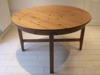 IKEA LEKSVIK ROUND EXTENDING DINING TABLE. SEATS UP TO 6