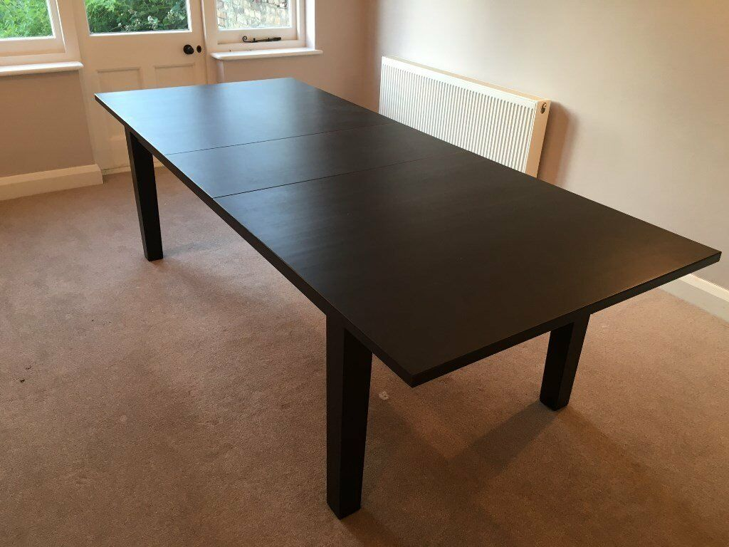 10 Seat Round Extendable Dining Table Ikea Stornas Extendable Dining Table Brown Black Seats
