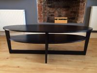 Ikea VEJMON coffee table, oval shape, black-brown - PRICE ...