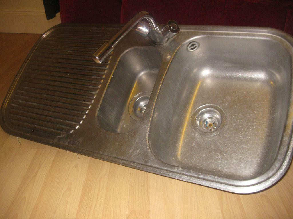 Kitchen Sink With Mixer Tap One And A Half Bowl Sink