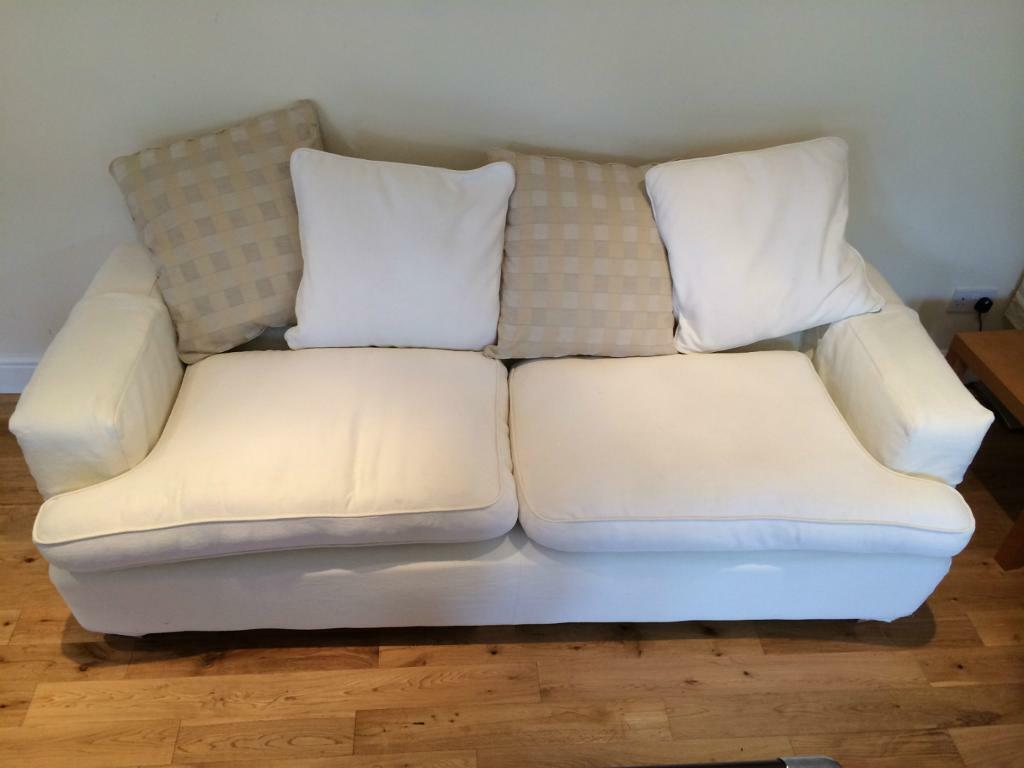 Dfs Sofas Glasgow Dfs 3 And 4 Seater Cream Fabric Sofa For Sale | In