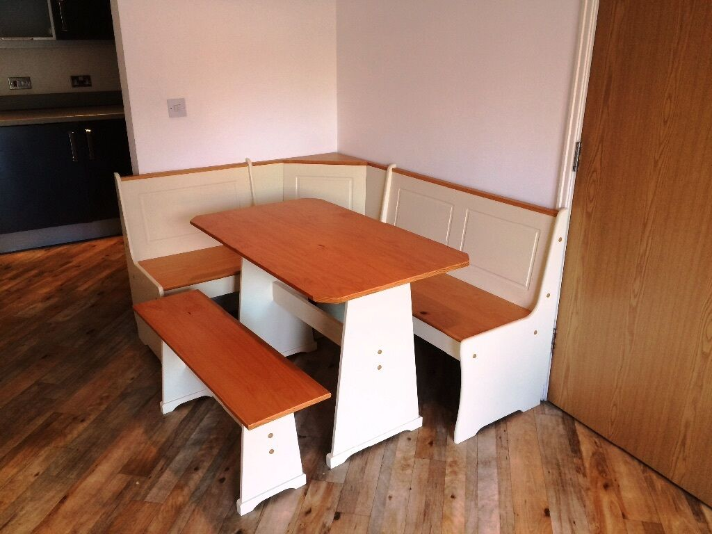 Haversham Pine Effect Dining Table With Nook And Corner