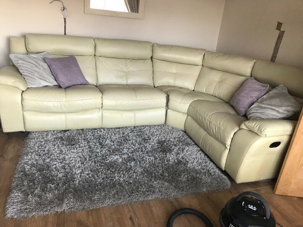 Leather Recliner Gumtree Glasgow Faux Leather Recliner Corner Sofa In Exeter Devon Gumtree