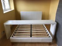 Ikea Malm White Double Bed + Over bed table   in ...