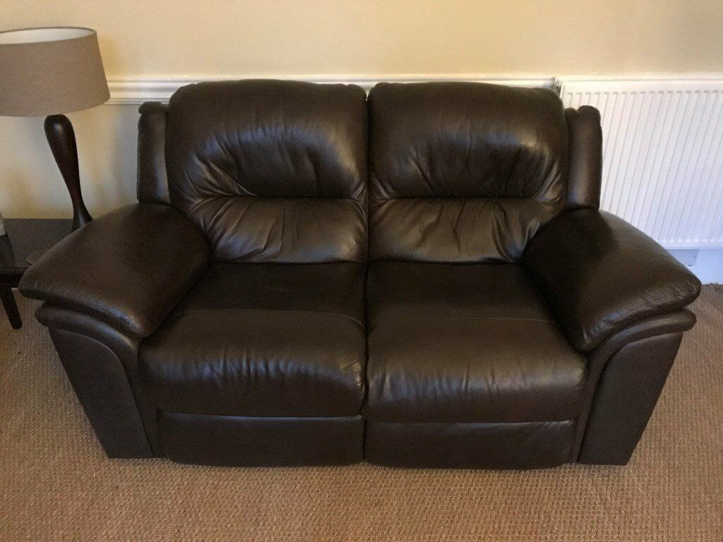 Leather Recliner Gumtree Glasgow 2 And 3 Seater Recliner Dark Brown Leather Sofas In West