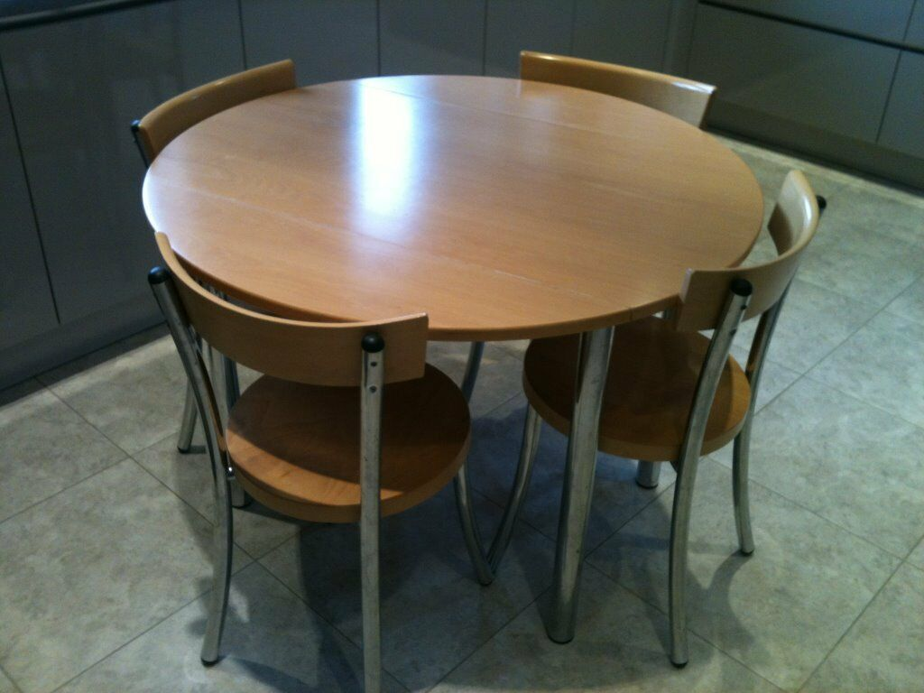 John Lewis Wooden Kitchen Table And 4 Chairs Extendable