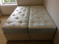 2 Single Beds - Dunlopillo Twin Divan Single Beds Can Be ...