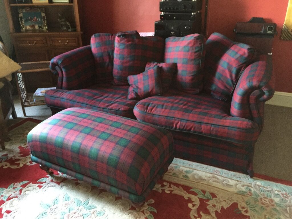 Grey Sofas For Sale Gumtree Lindsay Tartan Sofa And Footstool | In Crieff, Perth And