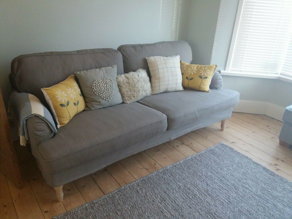 Dfs Leather Sofa Ikea 3 Seater Stocksund Sofa Grey Beige. Bought 2017 Never