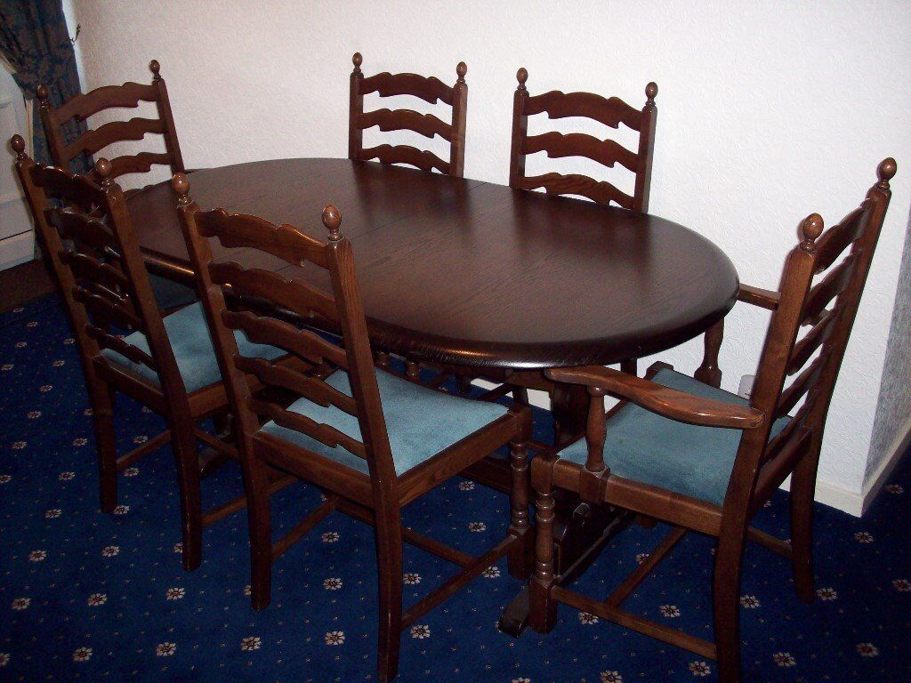 Priory Dining Table And Six Chairs In Guisborough North