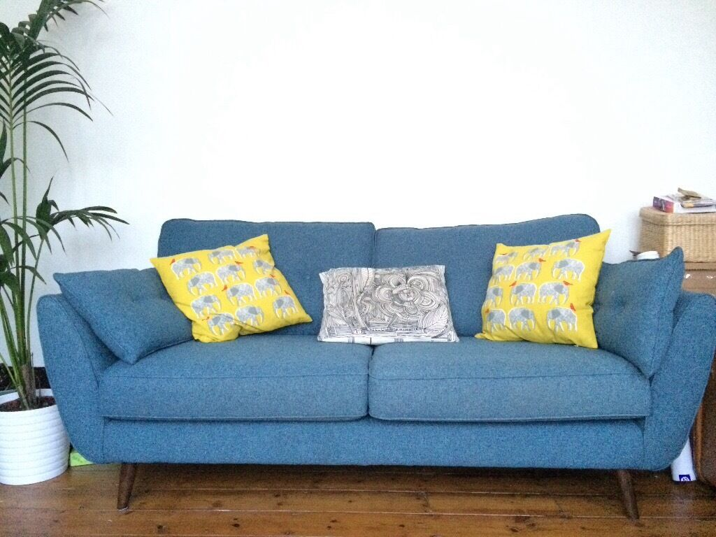 Gumtree Sofas For Sale East London French Connection Dfs Zinc 3 Seater Sofa, Navy Blue Teal