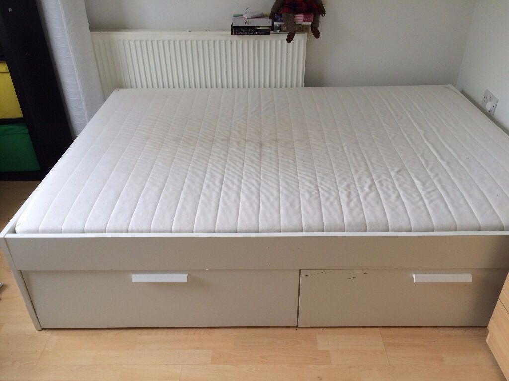 Ikea Bed Brimnes Ikea Brimnes Storage Double Bed And Mattress | In Lambeth