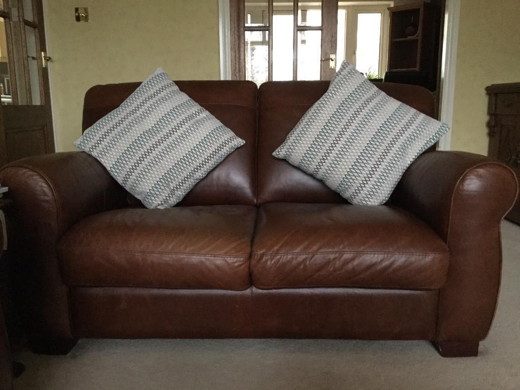 2 Seater Italian Contempo Botticelli Leather Sofa In