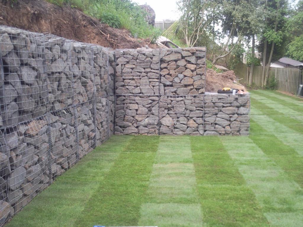 Gabion Baskets Retaining Garden Wall Landscaping In