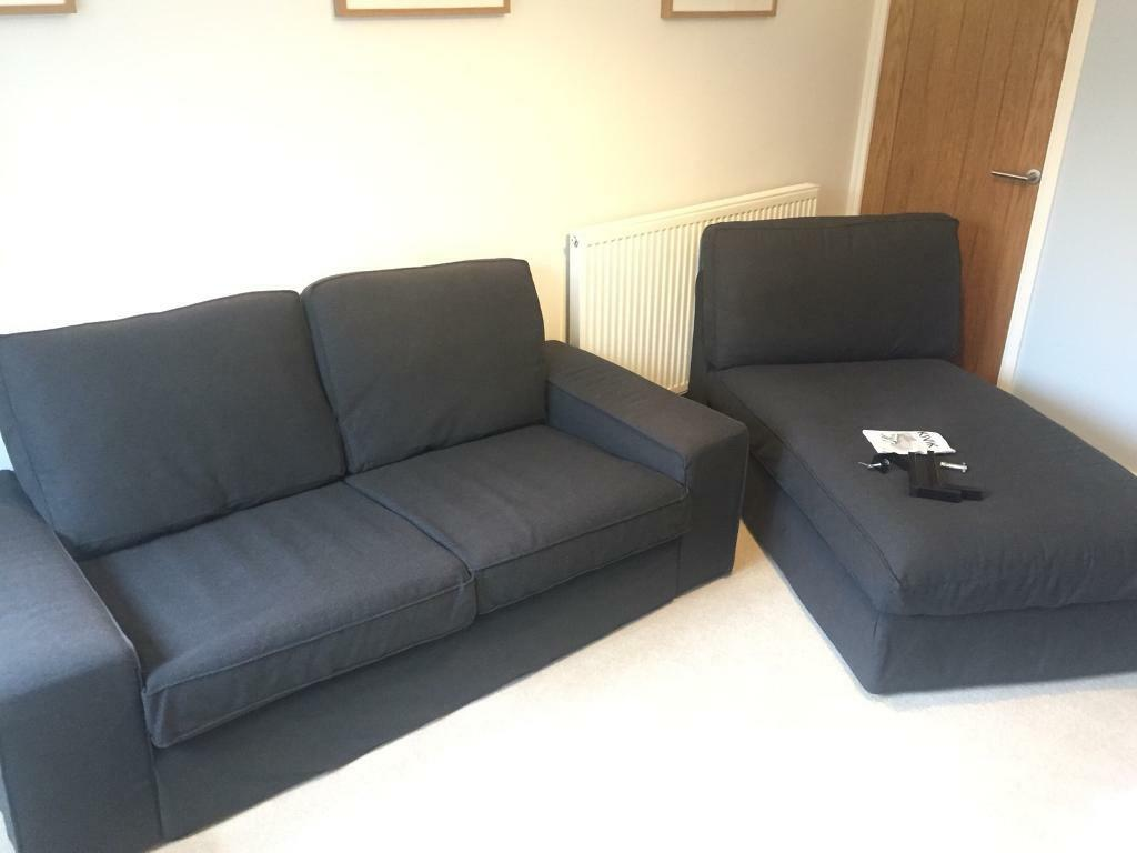 Ikea Sofas Chaise Longue Ikea Kivik 2 Seater Sofa And Chaise Longue | In Romsey