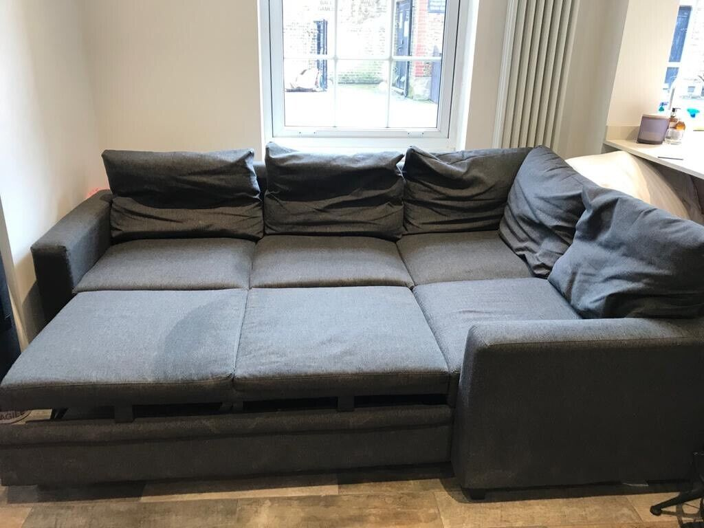 Argos Home Seattle Left Corner Fabric Sofa Bed Charcoal - Sofa Bed Argos London
