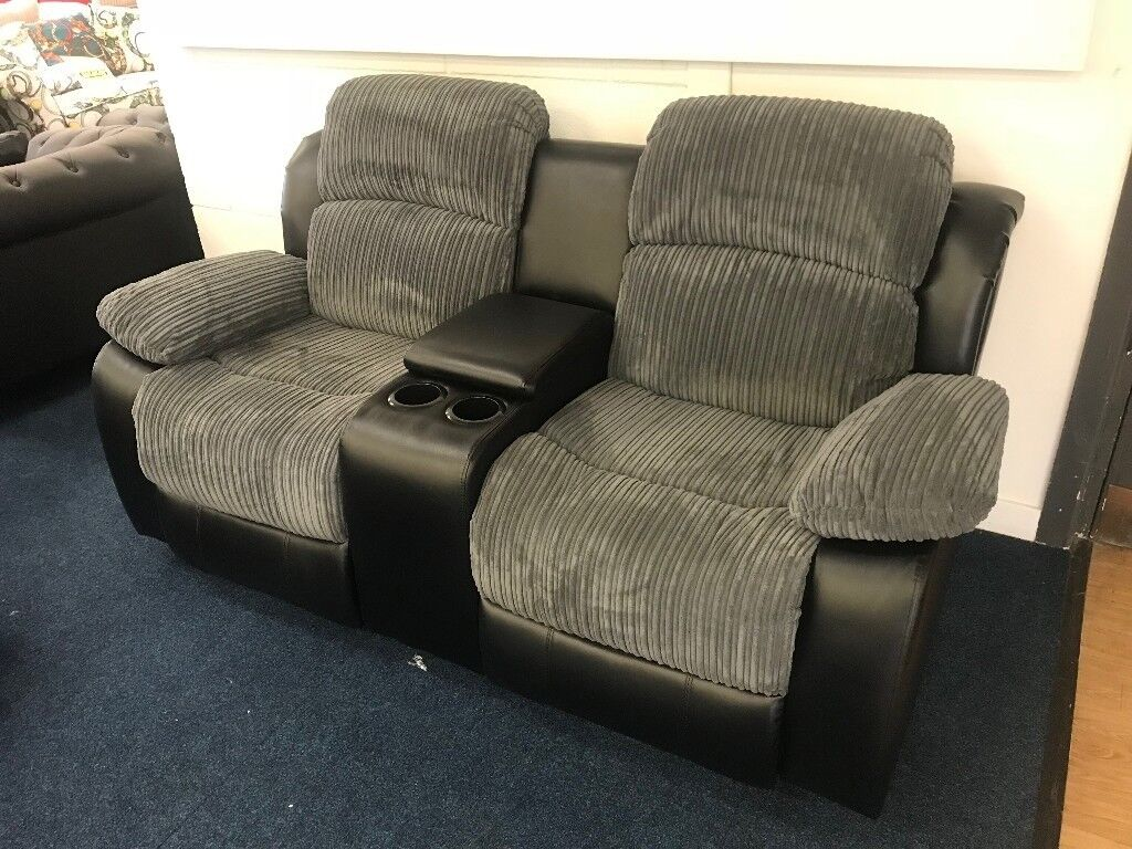 Cinemasofa 2 Seater Electric Fabric Cinema Sofa With Console | In