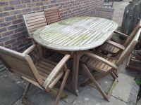 Homebase Peru wooden extending garden furniture set | in ...
