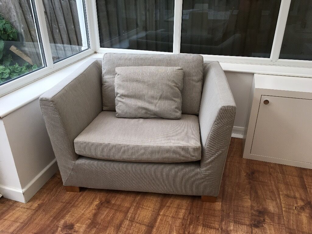 Ikea 5 Seat Sofa Ikea Stockholm 1 5 Seat Sofa Very Large Armchair In A