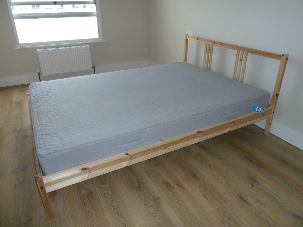 Double Beds Ikea Ikea Wooden Double Bed In Esher Surrey Gumtree