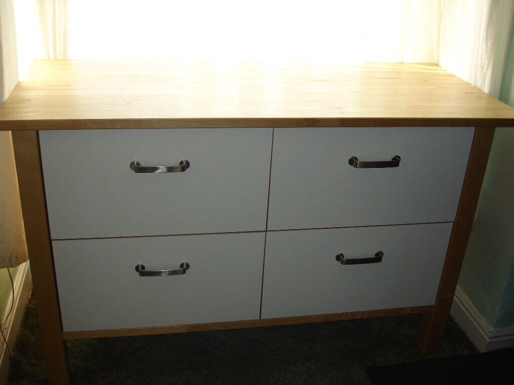 Ikea Varde Freestanding Kitchen Island Storage Drawer Unit