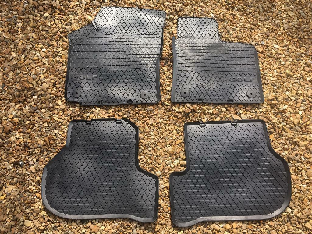 Genuine vw golf rubber mats for mk5 and mk6