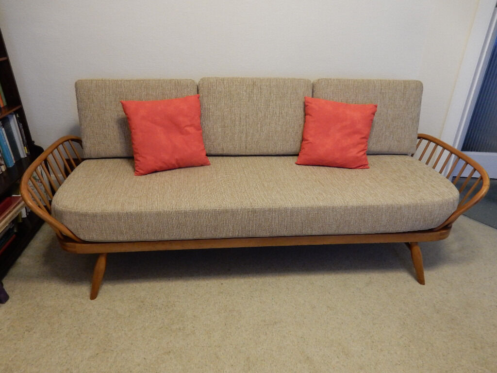 Original Ercol Daybed Studio Couch New Foam New Covers