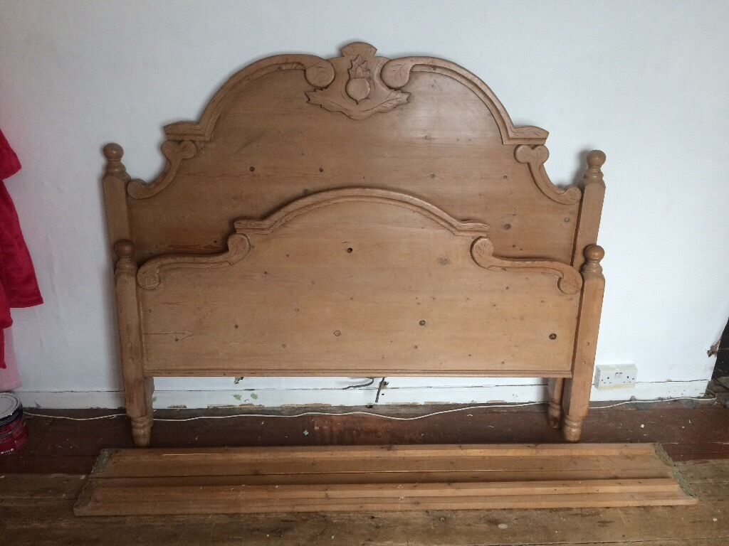 Solid Pine King Size Bed Frame In Diss Norfolk Gumtree