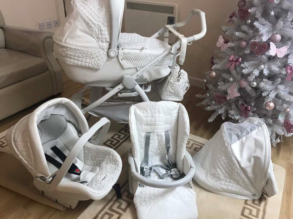 Pram And Pushchair Travel System White Young Versace Pram Essex In Stanway Essex Gumtree