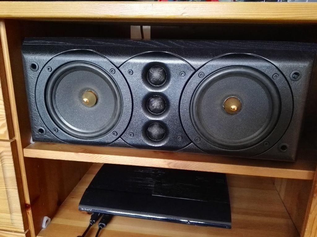 Mission 77c And 77ds Surround Sound Speakers In