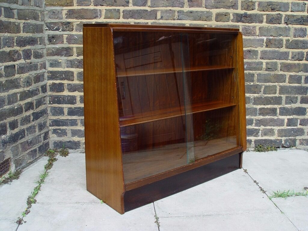 Free Delivery Retro G Plan Bookcase With Glass Doors