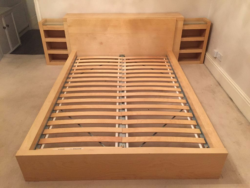 Ikea Malm Bett Kopfteil Ikea Malm Double Bed & Headboard Storage Unit | In Hove