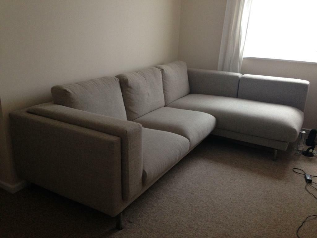 Ikea Nockeby Two Seat Sofa 2 Seat Sofa With Chaise Long Ikea Nockeby In Redcliffe