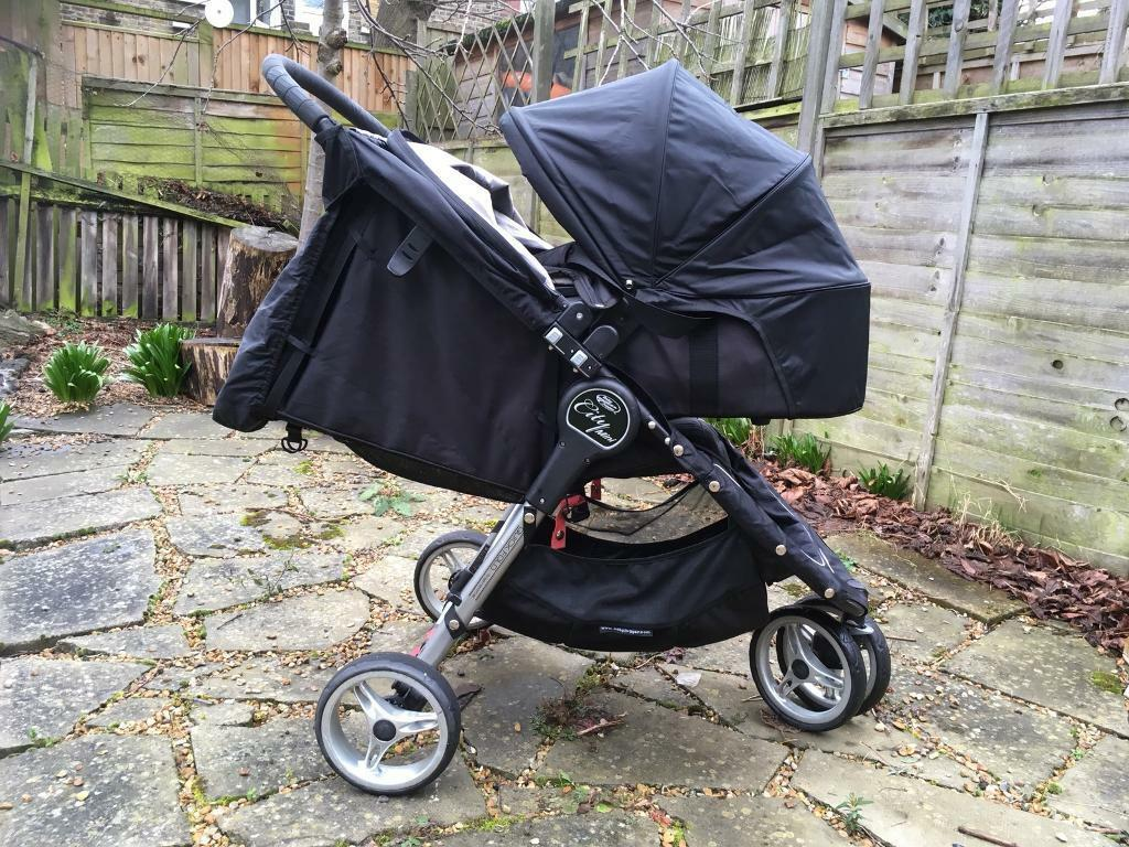 Pram Pushchair Toys Black Baby Jogger City Mini Carrycot Glider Board In