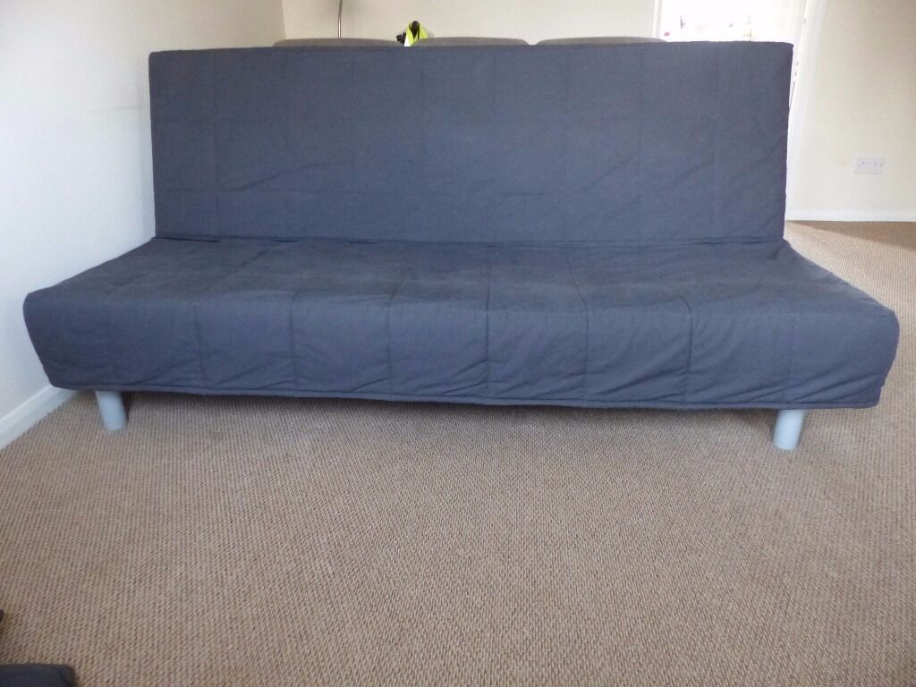 Ikea Sofa Z Materacem Three Seat Sofa Bed Ikea Beddinge Lovas With Dark Gray