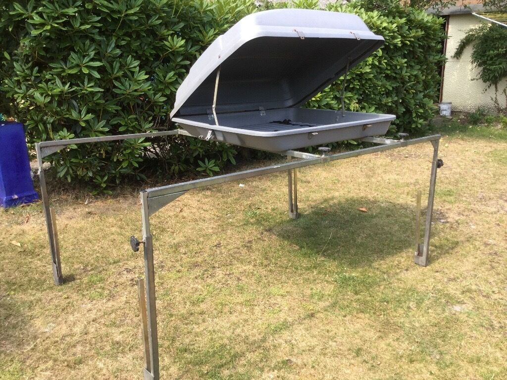 Trailer Tent Luggage Bike Rack With Top Box In