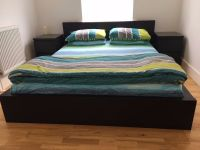 IKEA MALM bed frame, Mattress and matching side tables ...