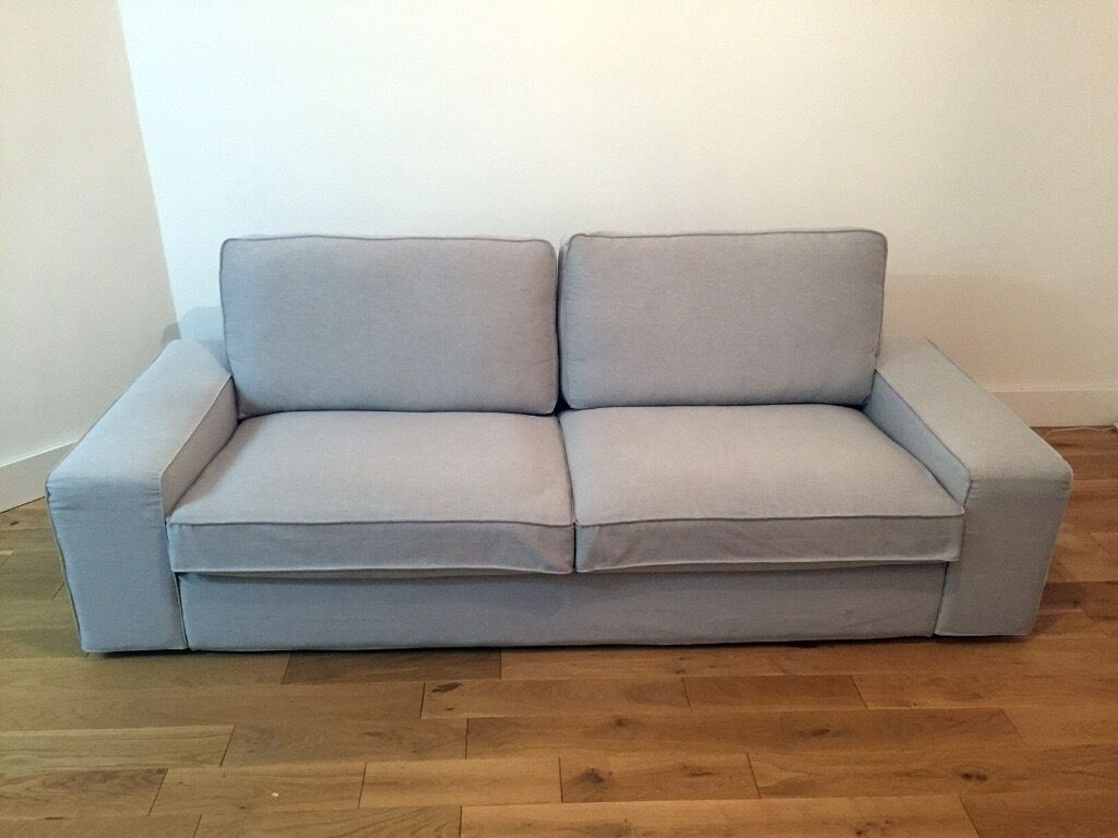 Kivik Sofa Ikea Test Immaculate Condition 3 Seater Ikea Kivik Sofa Light Grey