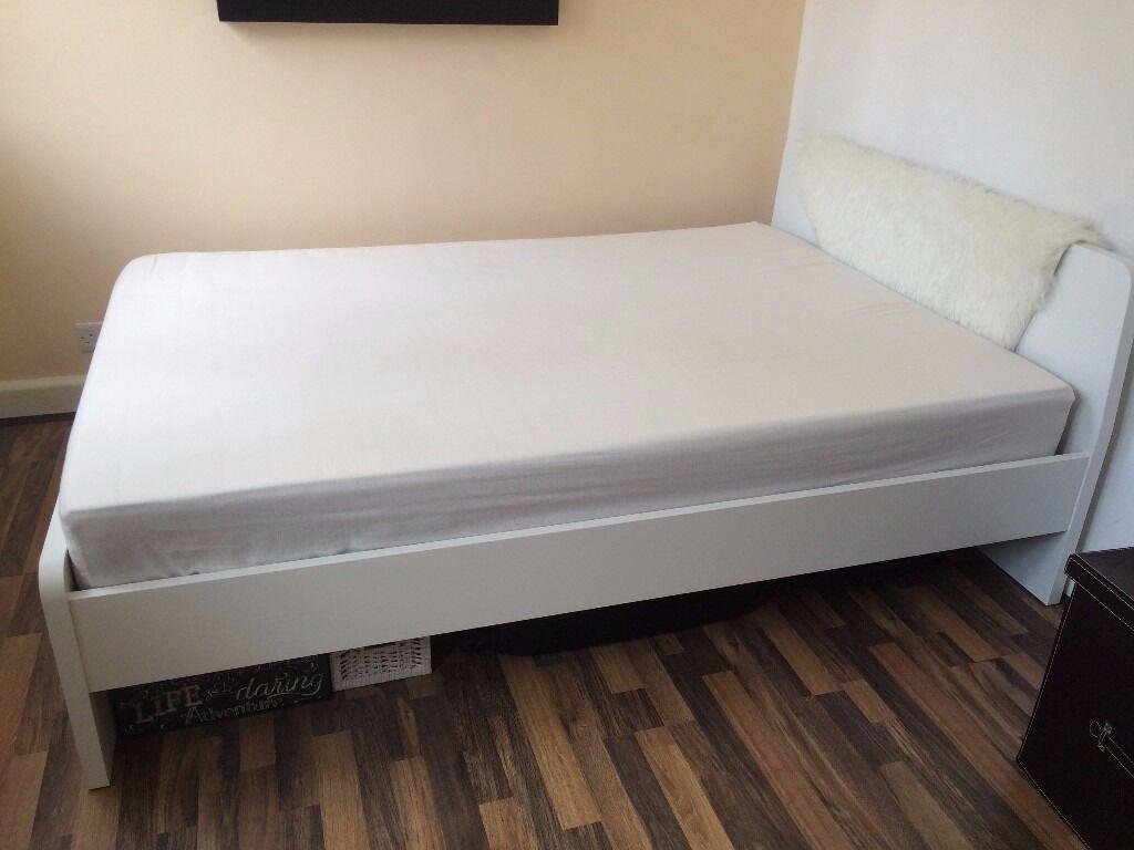 Ikea Askvoll Bed Frame White In Bournemouth Dorset