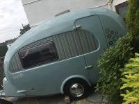 Beautiful Duck egg blue barefoot caravan | in Plymouth ...