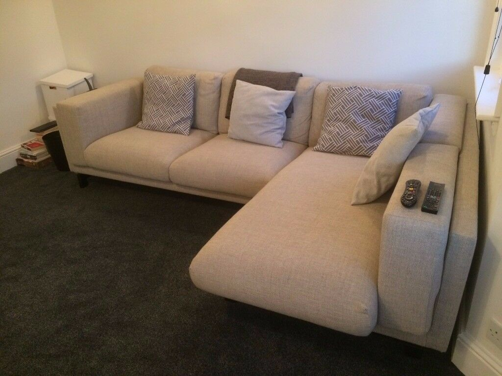 Ikea Nockeby Two Seat Sofa Almost New Light Grey Ikea Nockeby Two Seat Corner Sofa