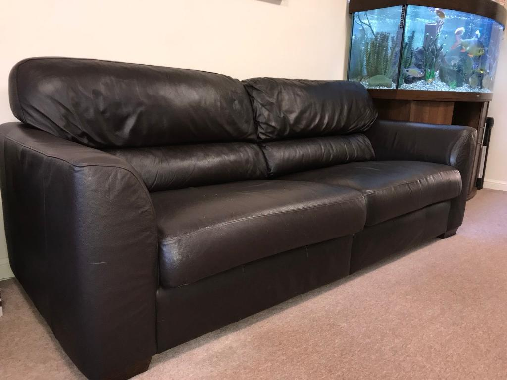 Leather Recliner Gumtree Glasgow Brown Leather Sofa In Robroyston Glasgow Gumtree