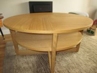 Ikea Oak coffee table - 'Vejmon'. 90cm. As new condition ...