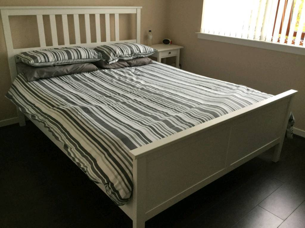 King Single Bed Ikea King Size Ikea Hemnes Bed Frame White In Kelty Fife
